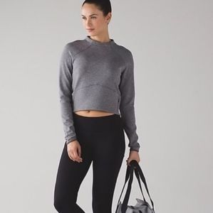 LULULEMON heather grey hill mock neck active wear